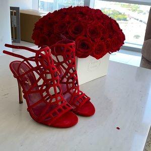 Sergio Rossi red sandals